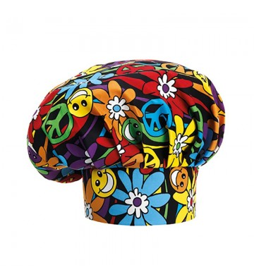 GORRO PARA COCINA EGOCHEF 7000147A PEACE AND LOVE (pack 2 uds.)