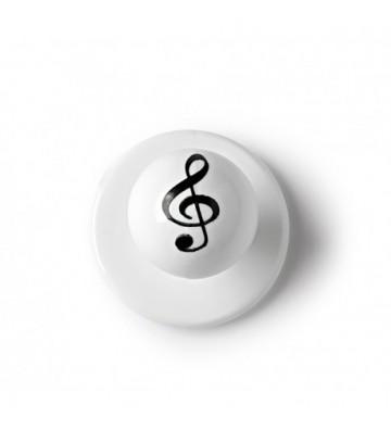 BOTON PARA CASACAS DE COCINERO EGOCHEF 7400427L MUSIC (Pack de 12 unidades).